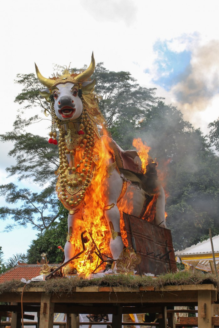 The cremation of a guru, Budakeling, Bali