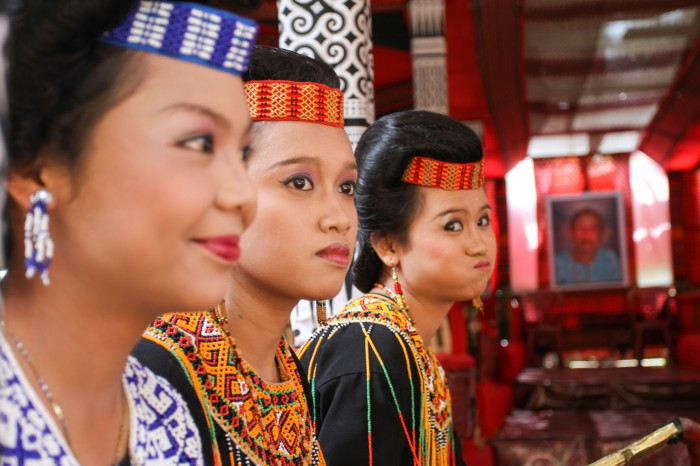 Sisters in ceremonial outfit, Sulawesi